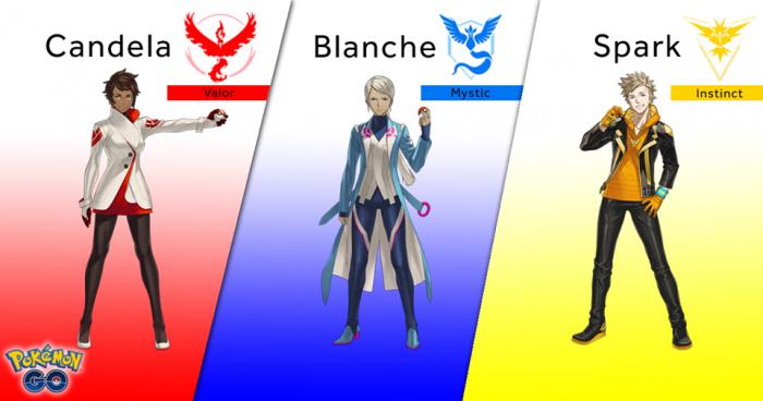 Team leaders Pokémon Go