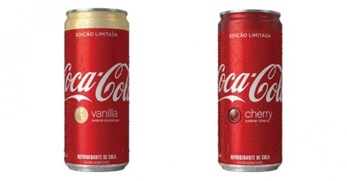 Coca Cola Cereja e baunilha