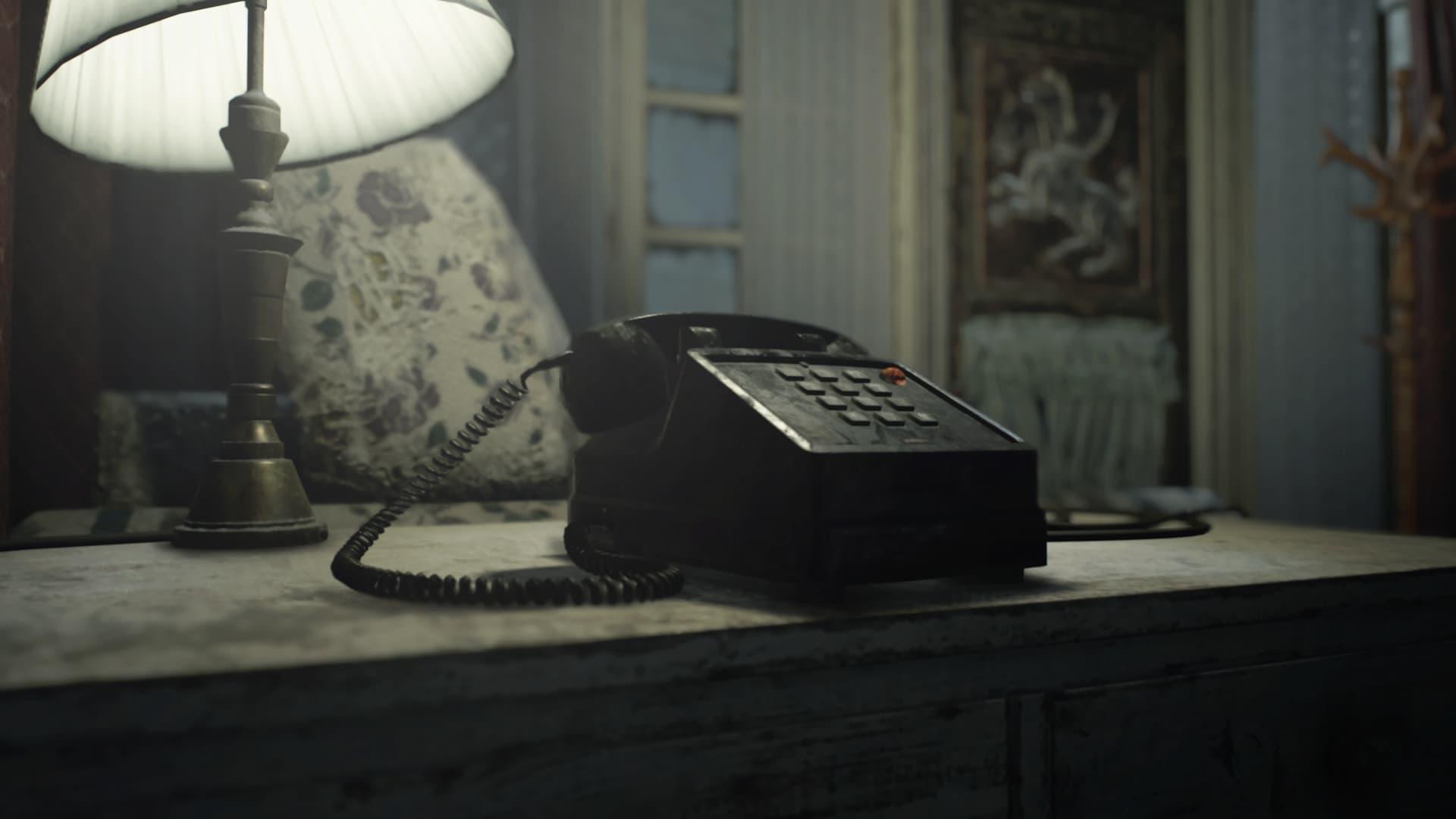 Telefone em RE7. Fonte: Capcom / Divulgação