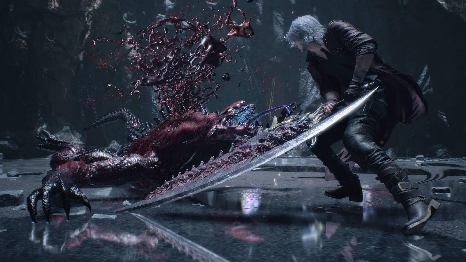 Devil May Cry 5 Special Edition com Ray Tracing. Fonte: Divulgação / Capcom