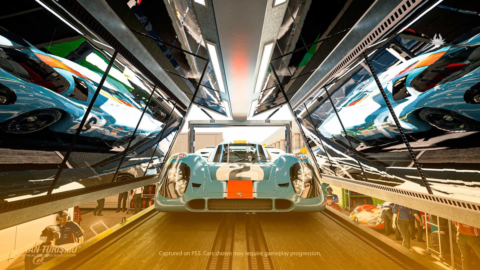 Gran Turismo 7 rodando com Ray Tracing no PlayStation 5.