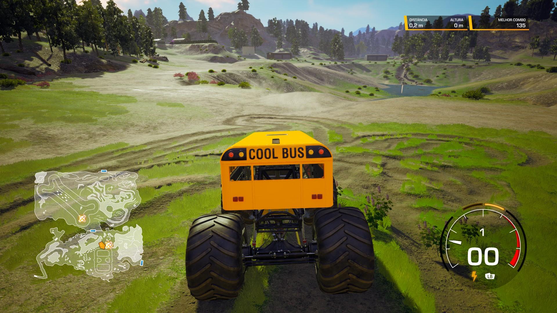 Monster Trucks deixam marcas de roda nas pistas
