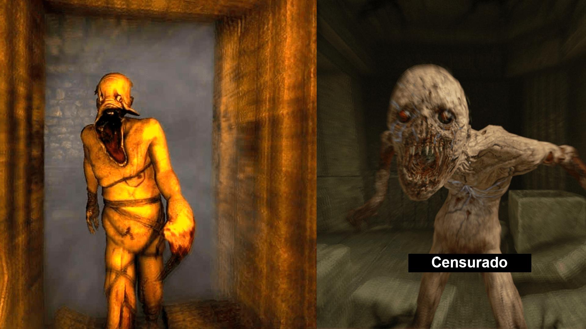 Qual monstro te parece mais genérico: à esquerda, os Grunhidos (The Dark Descent) ou à direita, os Ghouls (Rebirth)?